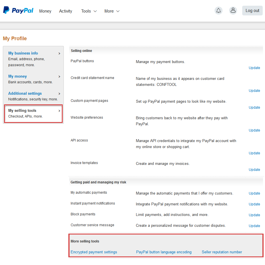 ConfTool Configure PayPal For ConfTool Pro - Create invoice paypal for service business