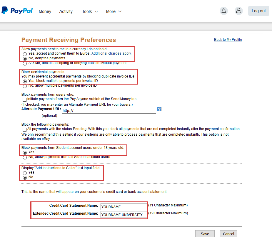 ConfTool Configure PayPal For ConfTool Pro - Create a paypal invoice for service business
